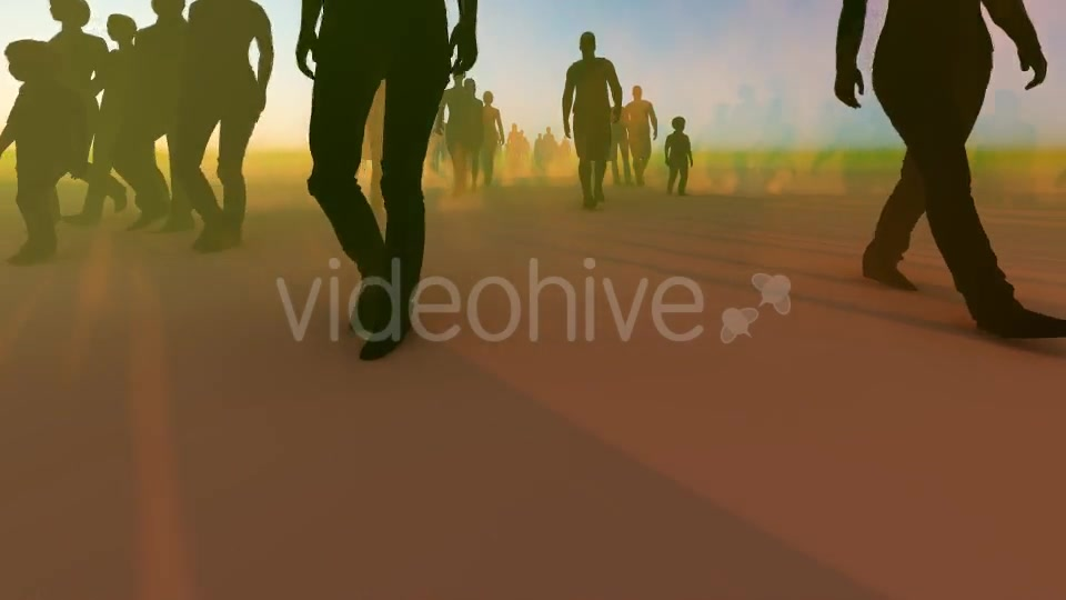 Silhouette People Walking Videohive 19788649 Motion Graphics Image 8
