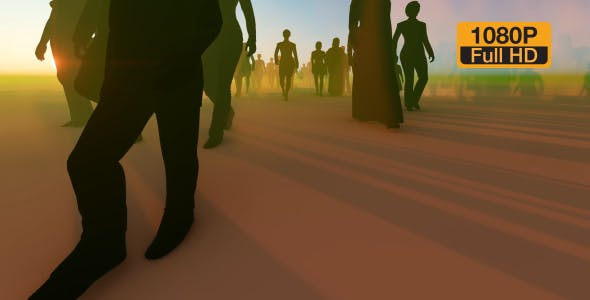 Silhouette People Walking - Videohive 19788649 Download