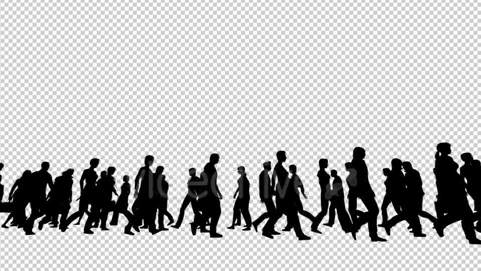 Silhouettes of People Walking Videohive 19802817 Motion Graphics Image 1