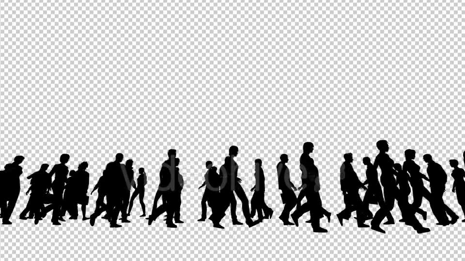 Silhouettes of People Walking Videohive 19802817 Motion Graphics Image 2