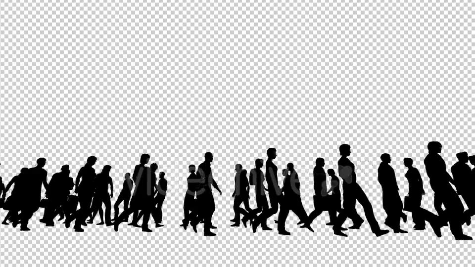 Silhouettes of People Walking Videohive 19802817 Motion Graphics Image 3
