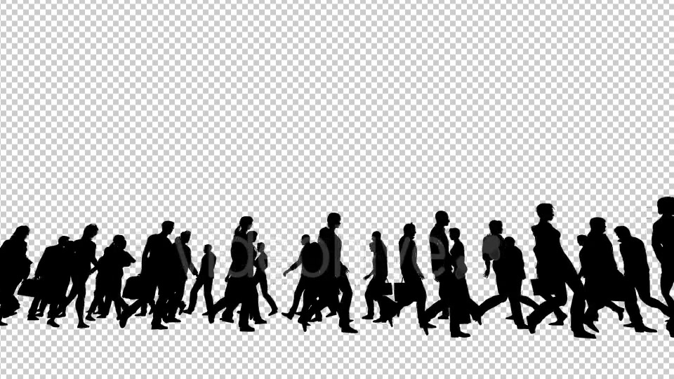 Silhouettes of People Walking Videohive 19802817 Motion Graphics Image 4