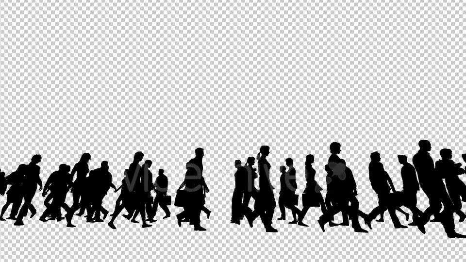 Silhouettes of People Walking Videohive 19802817 Motion Graphics Image 5