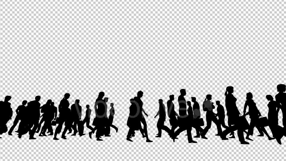 Silhouettes of People Walking Videohive 19802817 Motion Graphics Image 6