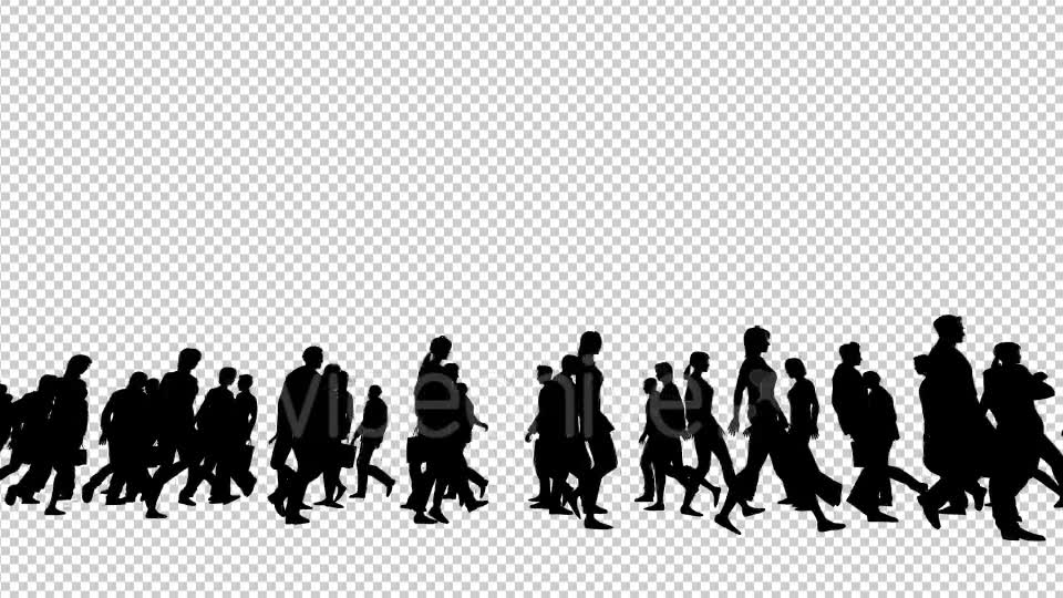 Silhouettes of People Walking Videohive 19802817 Motion Graphics Image 7