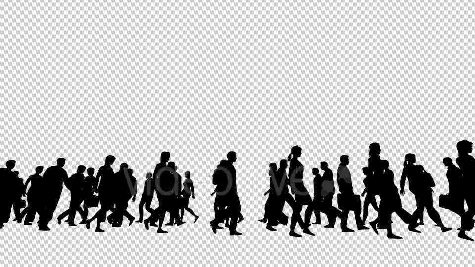 Silhouettes of People Walking Videohive 19802817 Motion Graphics Image 8