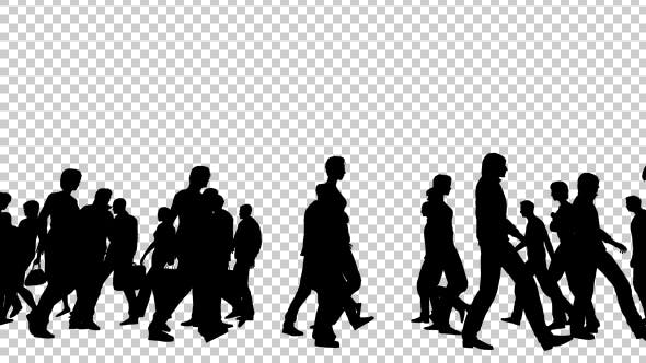 Silhouettes of People Walking - 19802817 Download Videohive