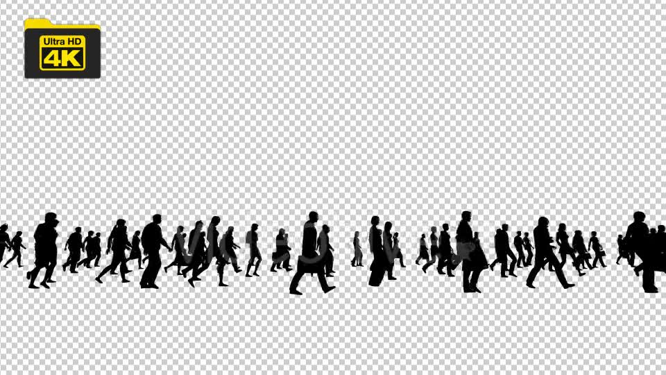 Silhouettes of People Walking 4K Videohive 19827042 Motion Graphics Image 1