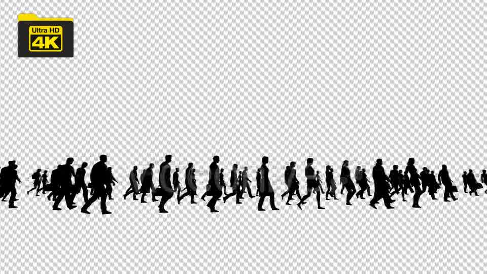 Silhouettes of People Walking 4K Videohive 19827042 Motion Graphics Image 10