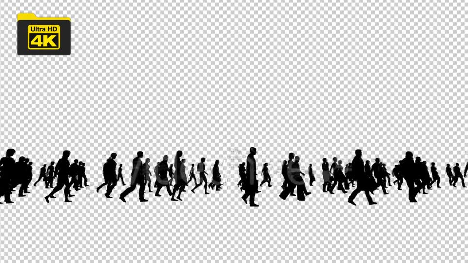 Silhouettes of People Walking 4K Videohive 19827042 Motion Graphics Image 2