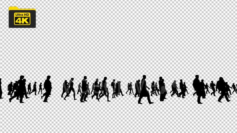 Silhouettes of People Walking 4K Videohive 19827042 Motion Graphics Image 3