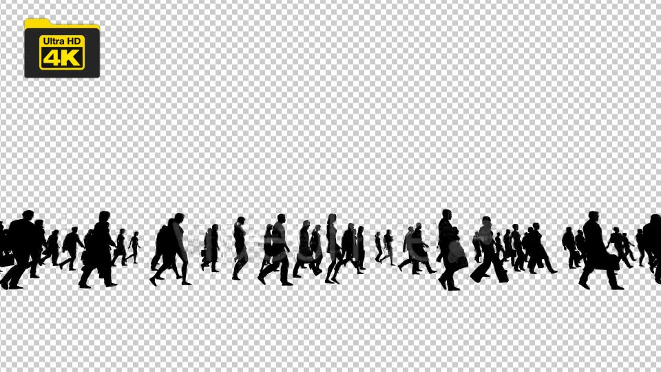 Silhouettes of People Walking 4K Videohive 19827042 Motion Graphics Image 4