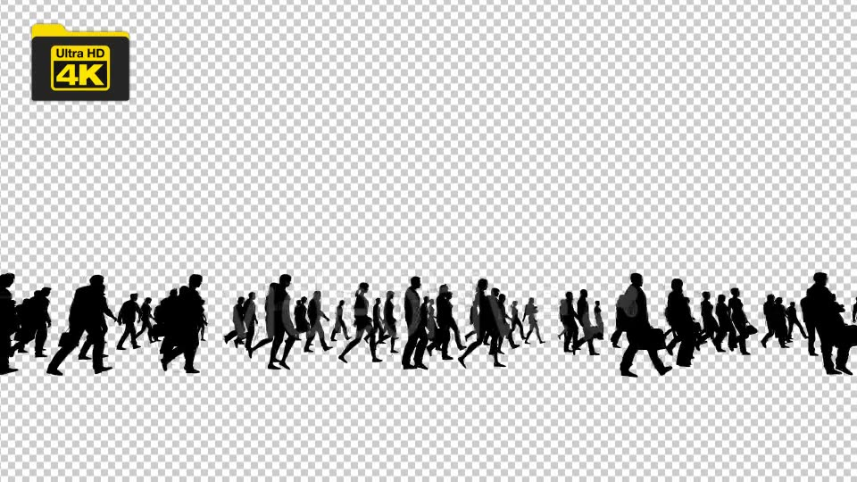 Silhouettes of People Walking 4K Videohive 19827042 Motion Graphics Image 5