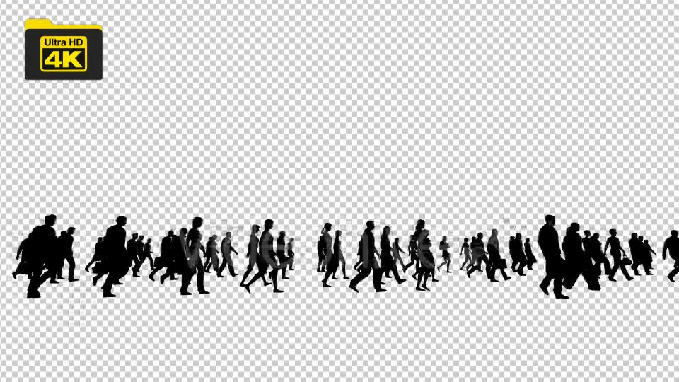 Silhouettes of People Walking 4K Videohive 19827042 Motion Graphics Image 6