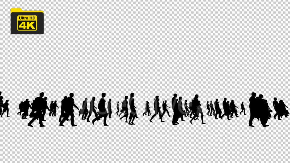 Silhouettes of People Walking 4K Videohive 19827042 Motion Graphics Image 7