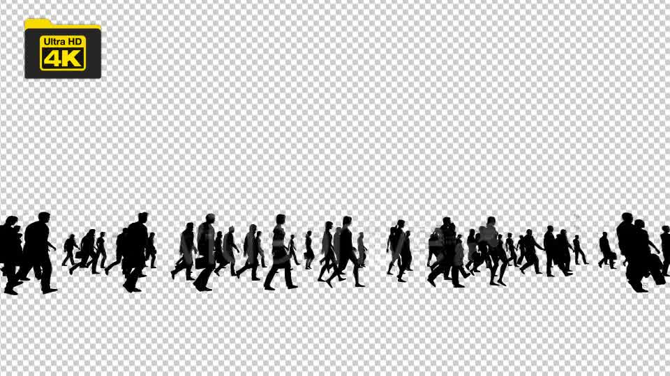 Silhouettes of People Walking 4K Videohive 19827042 Motion Graphics Image 8