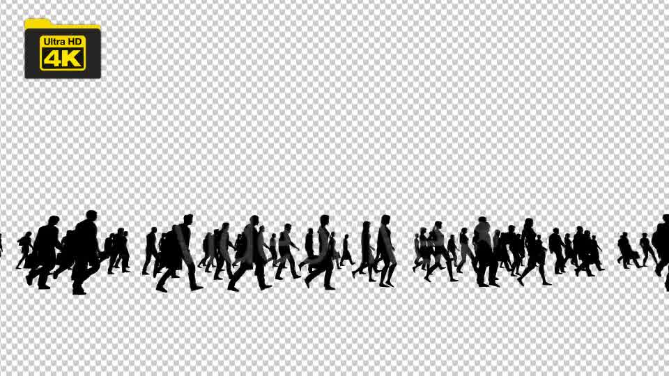 Silhouettes of People Walking 4K Videohive 19827042 Motion Graphics Image 9