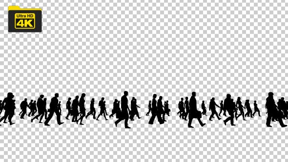 Silhouettes of People Walking 4K - Videohive Download 19827042