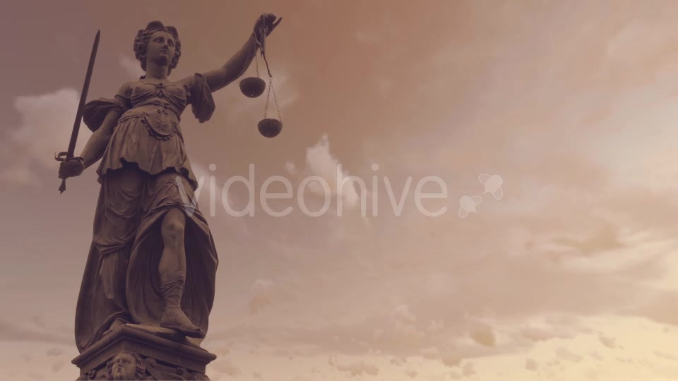 Statue of Lady Justice With Dark Weather Videohive 19763440 Motion Graphics Image 3