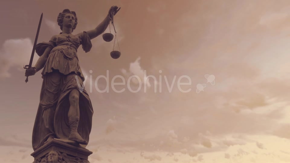 Statue of Lady Justice With Dark Weather Videohive 19763440 Motion Graphics Image 4