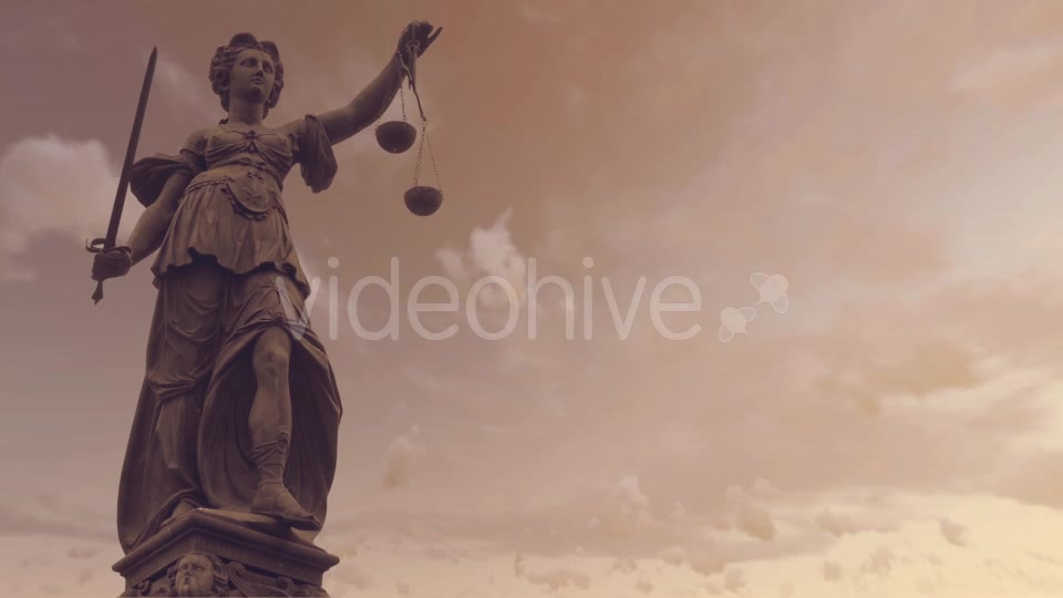 Statue of Lady Justice With Dark Weather Videohive 19763440 Motion Graphics Image 5