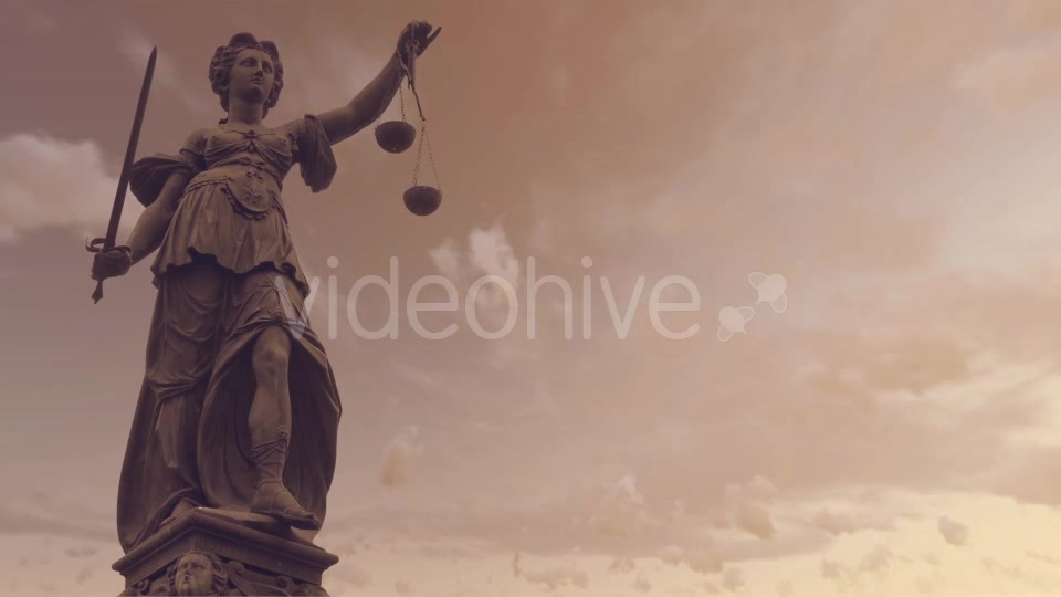 Statue of Lady Justice With Dark Weather Videohive 19763440 Motion Graphics Image 6