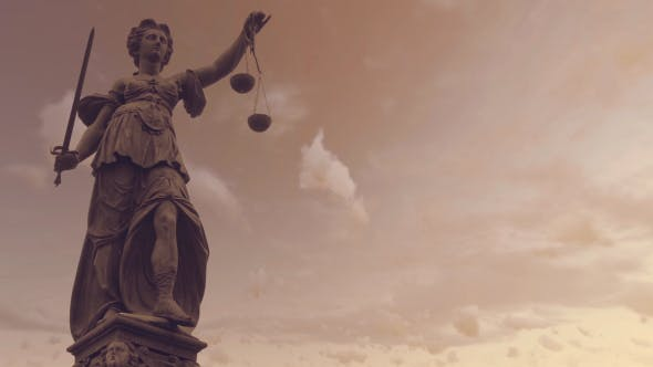 Statue of Lady Justice With Dark Weather - 19763440 Download Videohive