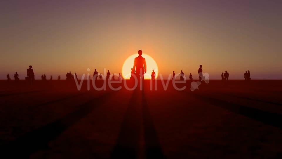 Sunset and Business People Videohive 19782040 Motion Graphics Image 1