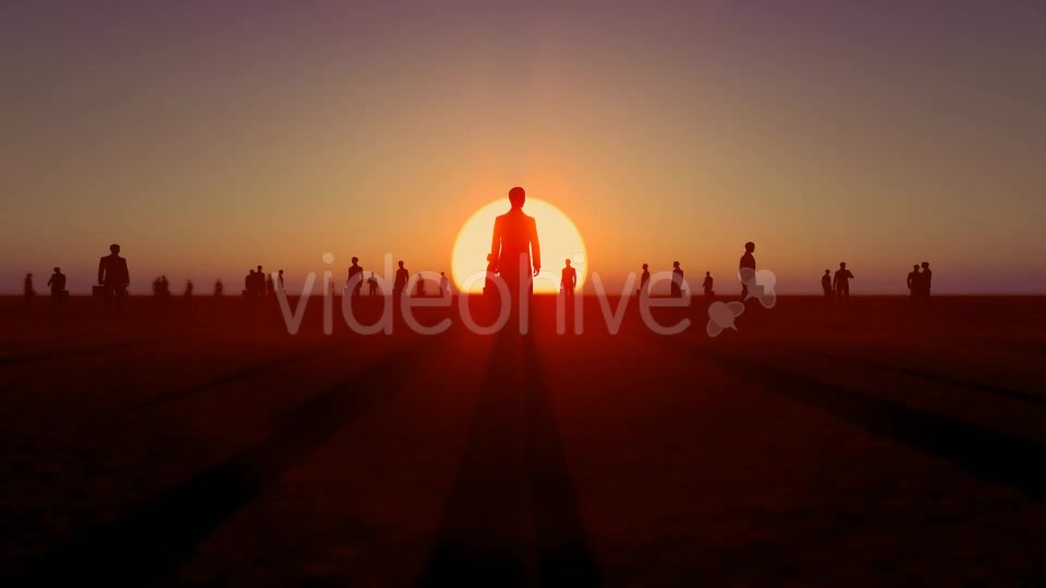 Sunset and Business People Videohive 19782040 Motion Graphics Image 2
