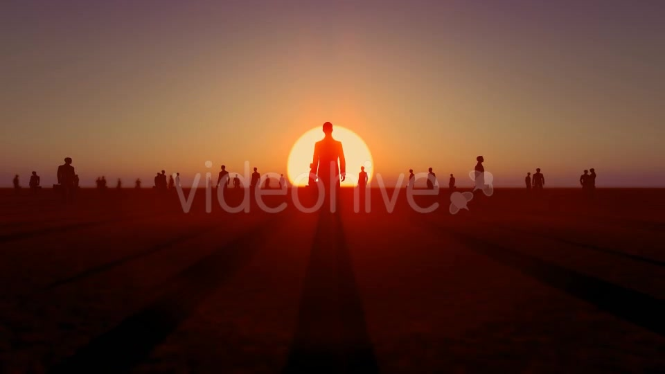 Sunset and Business People Videohive 19782040 Motion Graphics Image 3