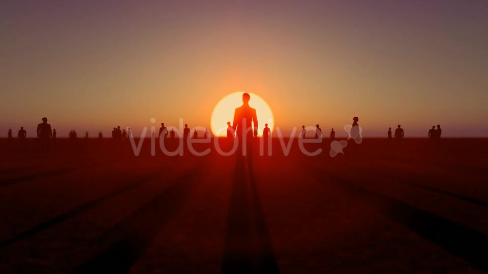 Sunset and Business People Videohive 19782040 Motion Graphics Image 4