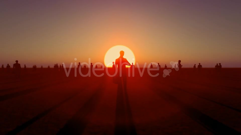 Sunset and Business People Videohive 19782040 Motion Graphics Image 6