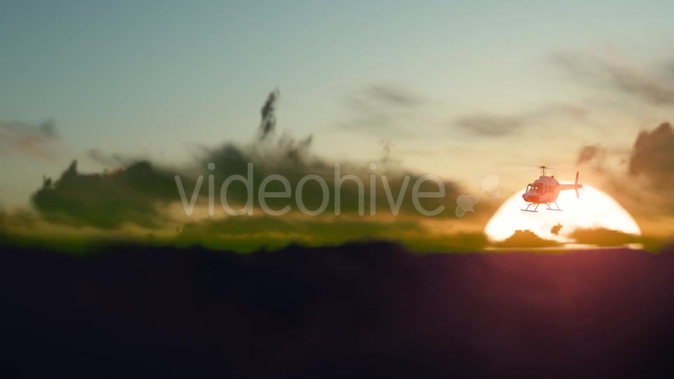 Sunset Helicopter Videohive 19717549 Motion Graphics Image 2
