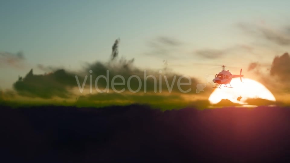 Sunset Helicopter Videohive 19717549 Motion Graphics Image 3
