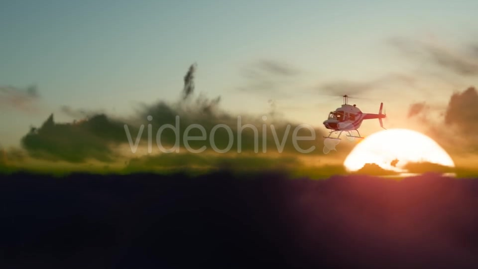 Sunset Helicopter Videohive 19717549 Motion Graphics Image 4