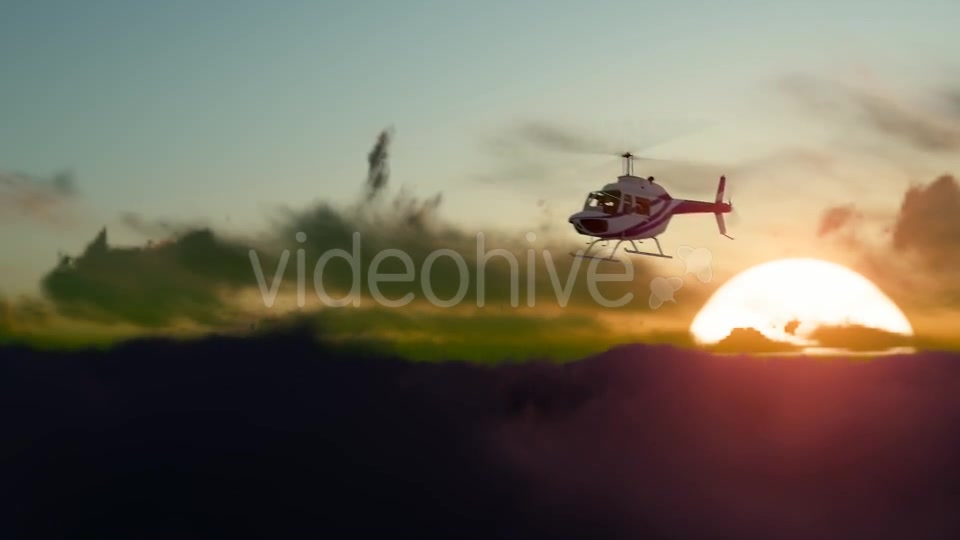 Sunset Helicopter Videohive 19717549 Motion Graphics Image 5