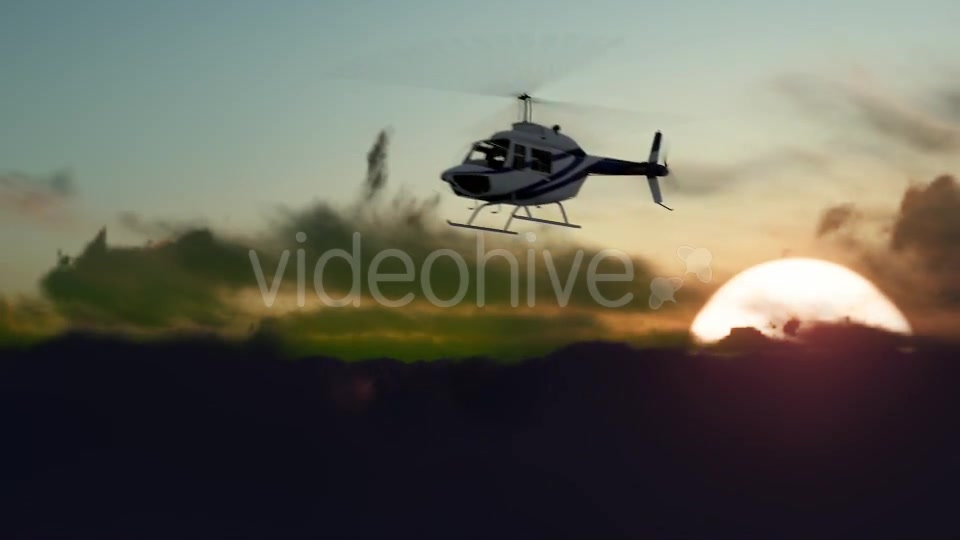 Sunset Helicopter Videohive 19717549 Motion Graphics Image 6