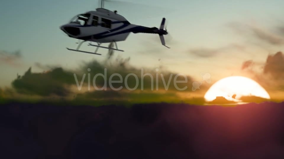 Sunset Helicopter Videohive 19717549 Motion Graphics Image 7