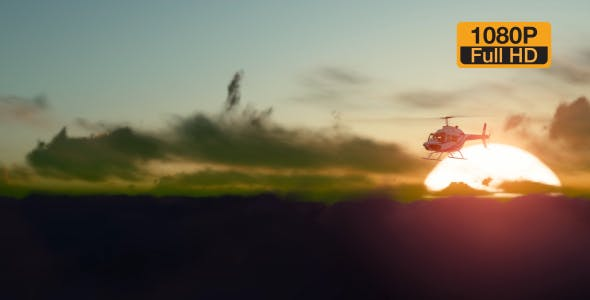 Sunset Helicopter - 19717549 Download Videohive