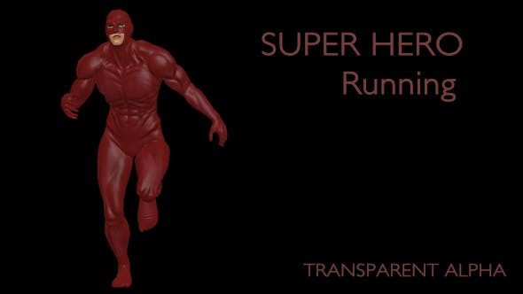 Superhero Running - 19735654 Videohive Download