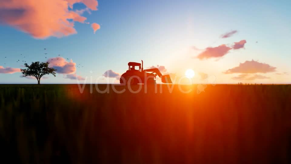 Tractor on the field Videohive 19761566 Motion Graphics Image 1