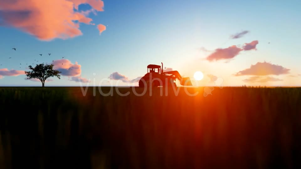 Tractor on the field Videohive 19761566 Motion Graphics Image 2