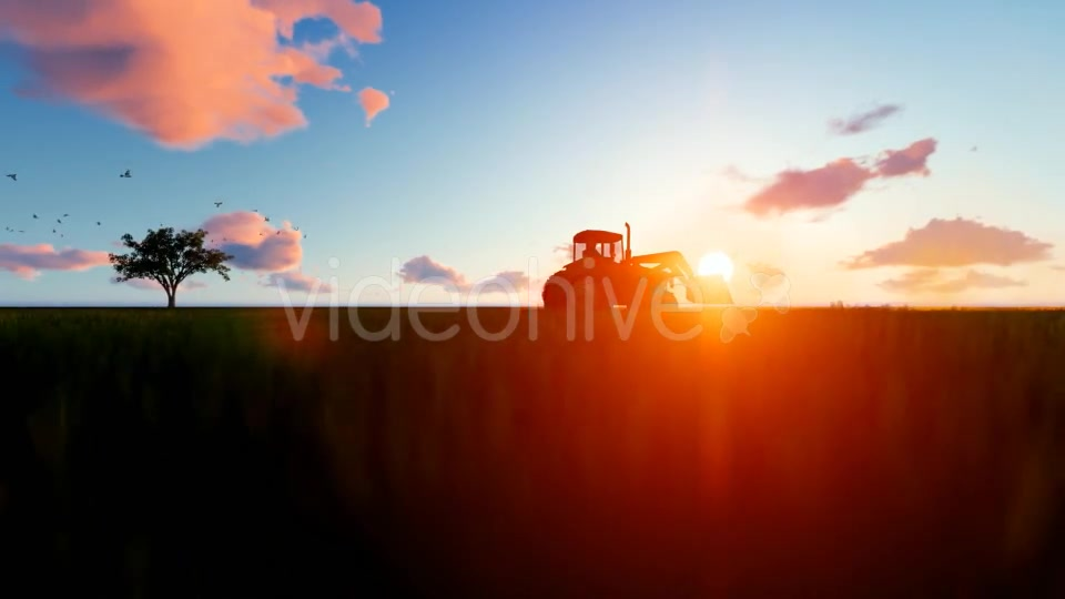 Tractor on the field Videohive 19761566 Motion Graphics Image 3