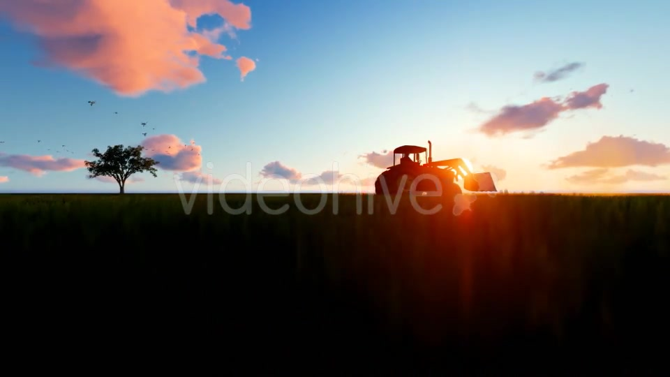 Tractor on the field Videohive 19761566 Motion Graphics Image 4