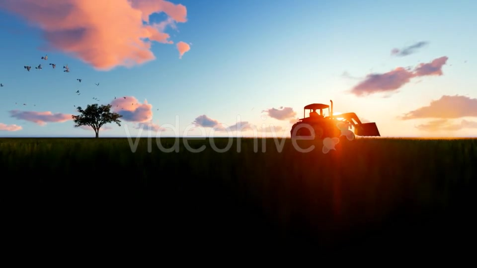 Tractor on the field Videohive 19761566 Motion Graphics Image 5