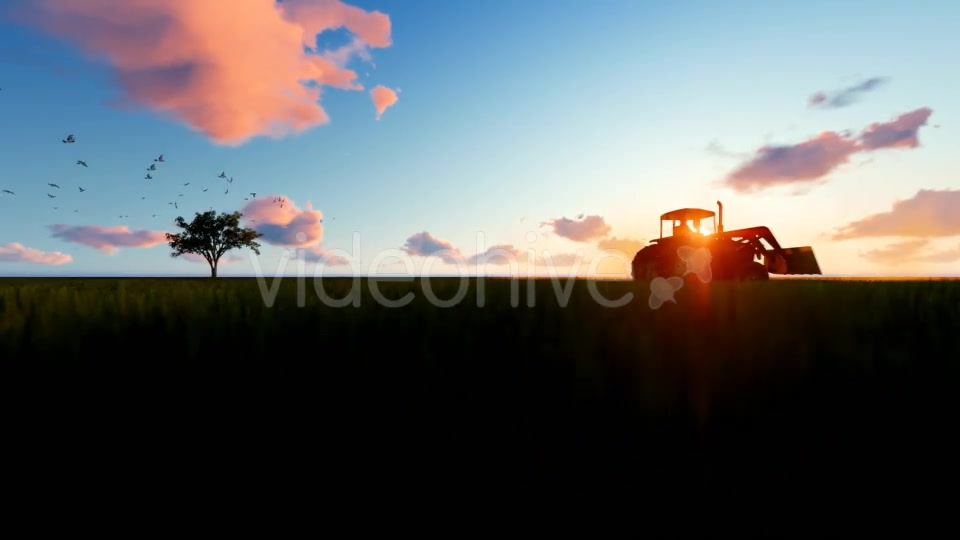 Tractor on the field Videohive 19761566 Motion Graphics Image 6