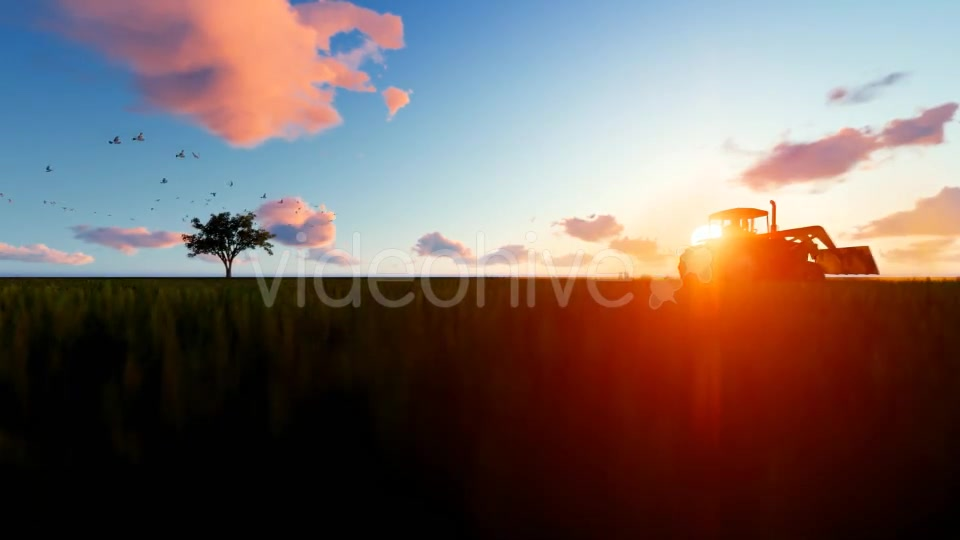 Tractor on the field Videohive 19761566 Motion Graphics Image 7