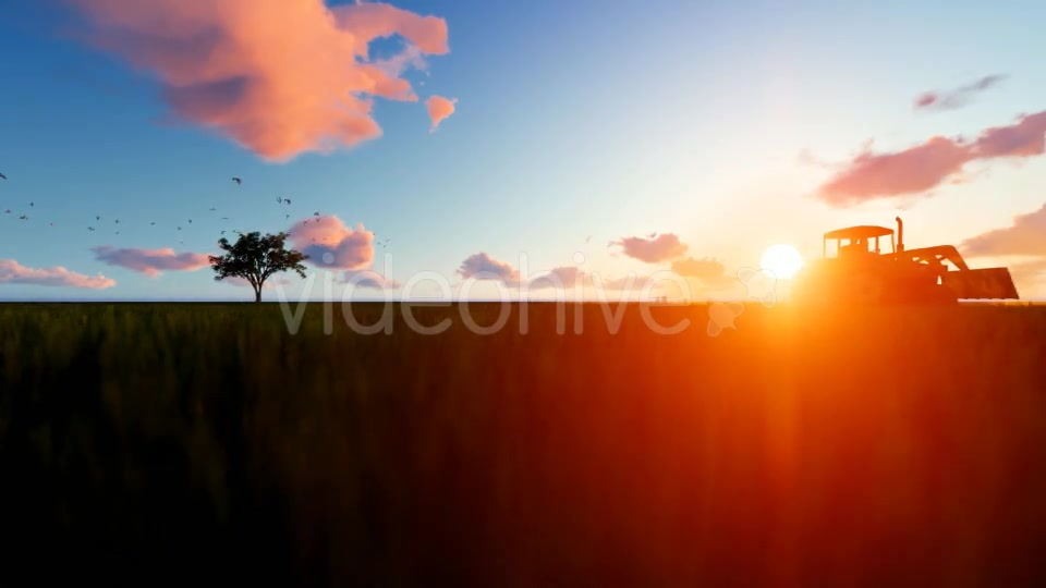 Tractor on the field Videohive 19761566 Motion Graphics Image 8