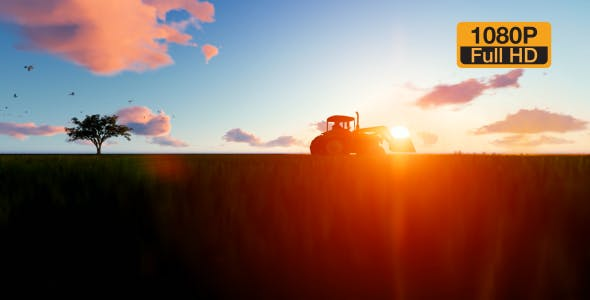 Tractor on the field - Videohive Download 19761566