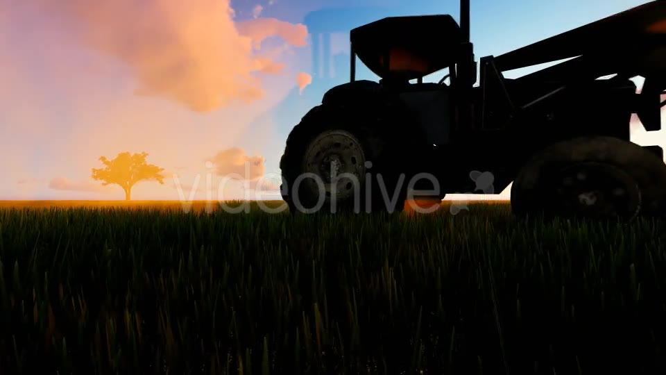 Tractor working in the field sunset Videohive 19761591 Motion Graphics Image 2